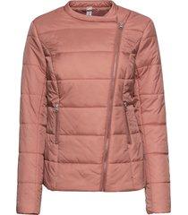 giacca trapuntata con cerniera asimmetrica (rosa) - rainbow
