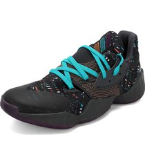 tenis basketball negro-morado-azul adidas performance harden vol. 4