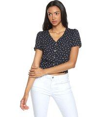 blusa azul navy-blanco active