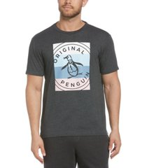original penguin men's colorblocked stamp logo graphic t-shirt