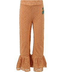mini rodini beige pants for girl with musical note