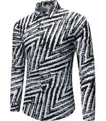 camicia da uomo slim fit nera casual per uomo