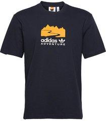 adventure logo tee t-shirts short-sleeved blå adidas originals