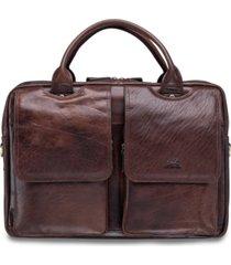 "mancini arizona collection double compartment 15.6"" laptop / tablet briefcase"