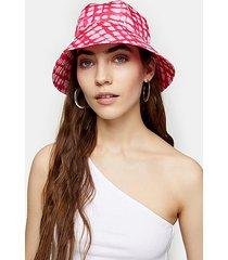 pink tie dye bucket hat - pink