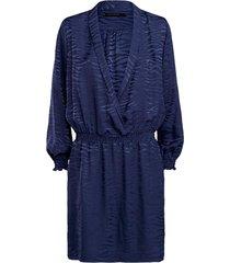 summum jurk shiny indigo blauw
