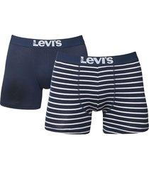 levis boxershort 200sf 2-pak stripe blauw
