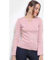 blusa road mel pérola feminina