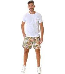 shorts opera rock swim flores masculino