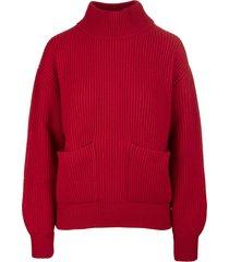 fedeli red woman castore pullover