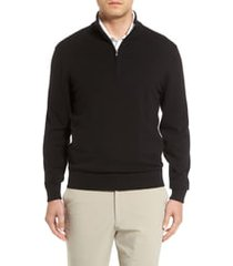 cutter & buck lakemont half zip sweater, size xlt in black at nordstrom