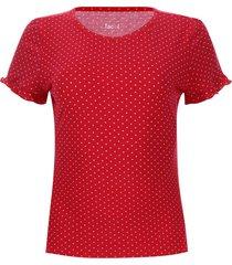 camiseta arandela puntos color rojo, talla 6