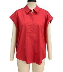 alfani pleated-back shirt, created for macy's