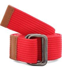 cinturón rojo-miel colore