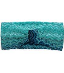chevron-knit knot headband