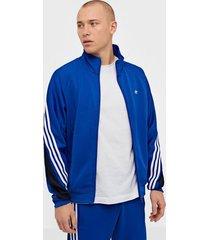 adidas originals 3stripe wrap tt tröjor blå/vit
