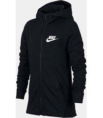 jaqueta infantil nike b nsw hoodie fz jsy masculina