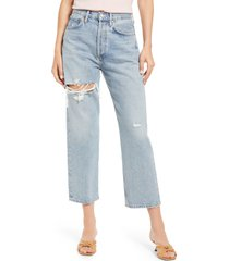 agolde '90s ripped crop loose fit jeans, size 26 in echo at nordstrom