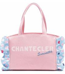 simonetta simonetta x chantecler shoulder bag with ruffles