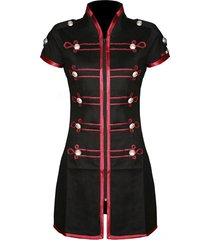 my chemical romance emo military parade cosplay costume black red dress
