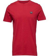 sign off tee t-shirts short-sleeved röd wrangler