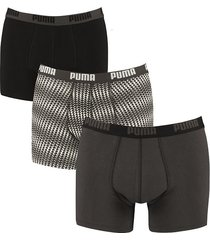 puma boxershorts 3-pak triangle zwart