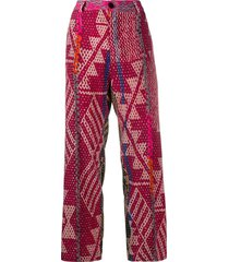 f.r.s for restless sleepers geometric print high-waist trousers -