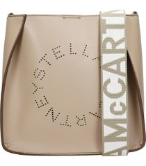 stella mccartney shoulder bag in taupe faux leather