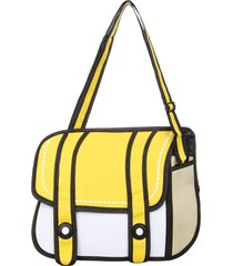 morral chico solapa 2 tiras midosuji amarillo-blanco fight for your right