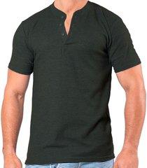 camiseta manga corta gris oscuro santana henley