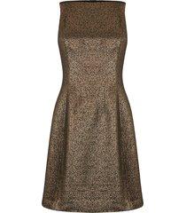 jurk van goudkleurige tweed
