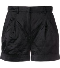 philosophy di lorenzo serafini satin shorts - black