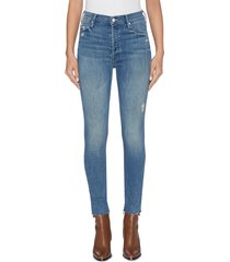 'the stunner ankle fray' skinny jeans