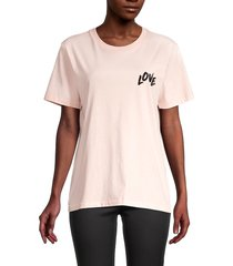 rebecca minkoff women's westin t-shirt - seashell pink - size s