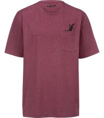 t-shirt men plus bordeaux