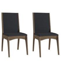 conjunto de cadeiras móveis canção 918 estofada 2 pçs fosco