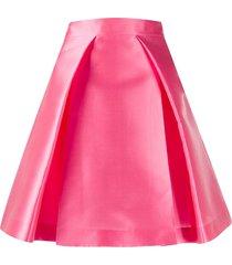 alberta ferretti a-line pleated skirt - pink