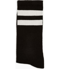 mens black and white stripe tube socks