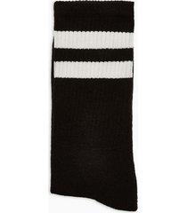 mens black with white stripe tube socks