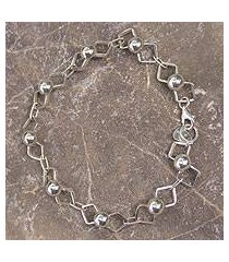 sterling silver link bracelet, 'sweet bows' (mexico)