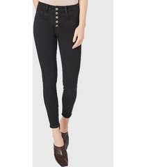 jeans pitillo high waist negro amalia jeans