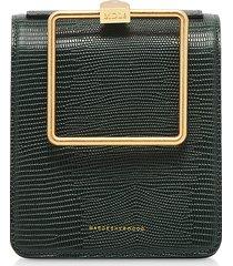 marge sherwood designer handbags, lizard embossed leather pump handle satchel bag