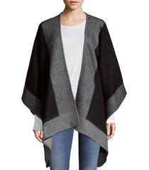 reversible wool kimono