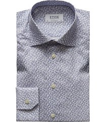contemporary-fit pine paisley cotton dress shirt