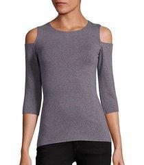 deneuve cold-shoulder top