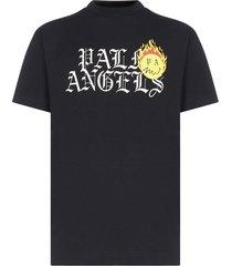 palm angels burning head cotton t-shirt