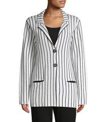 milena striped cashmere blazer