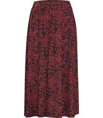 skirt knälång kjol röd ilse jacobsen
