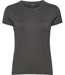 sweaters t-shirts & tops short-sleeved grå esprit collection