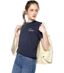 camiseta azul navy tommy jeans,